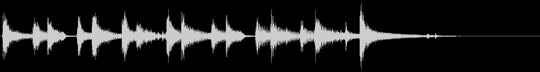 軽快なジングル/木琴・ギター・ウクレレの未再生の波形