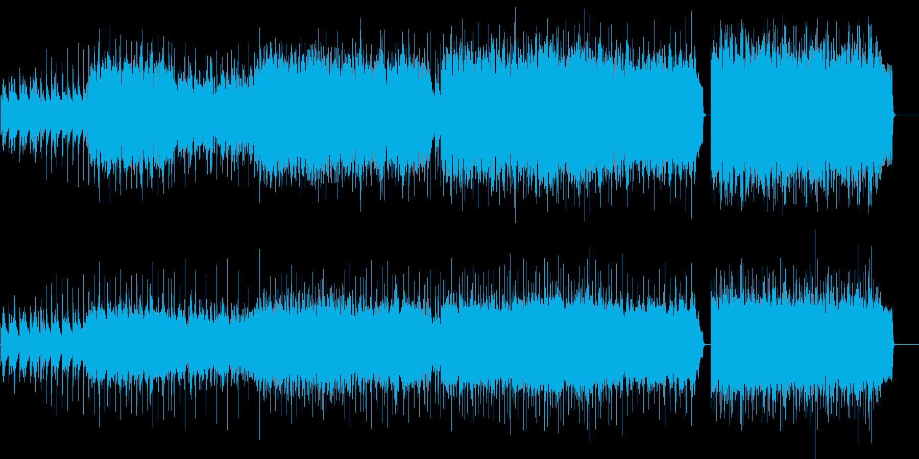 爽やかな風を感じるピアノBGMの再生済みの波形