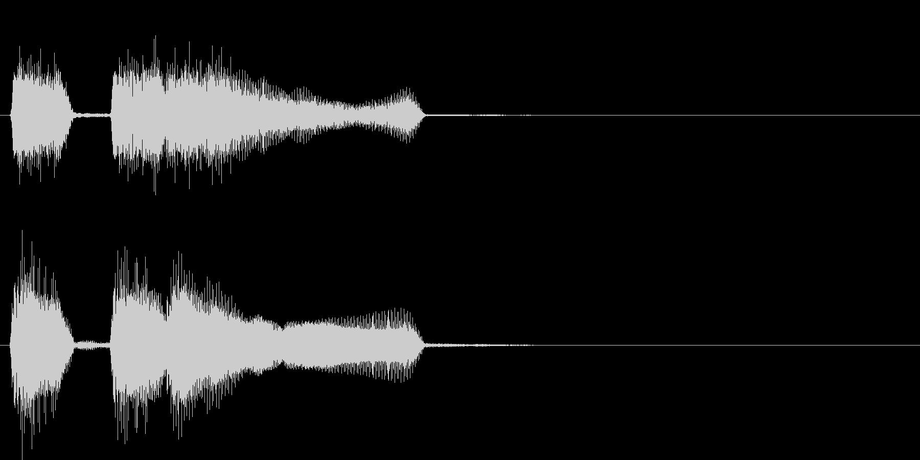 テッテレー(成功時のファンファーレ)の未再生の波形
