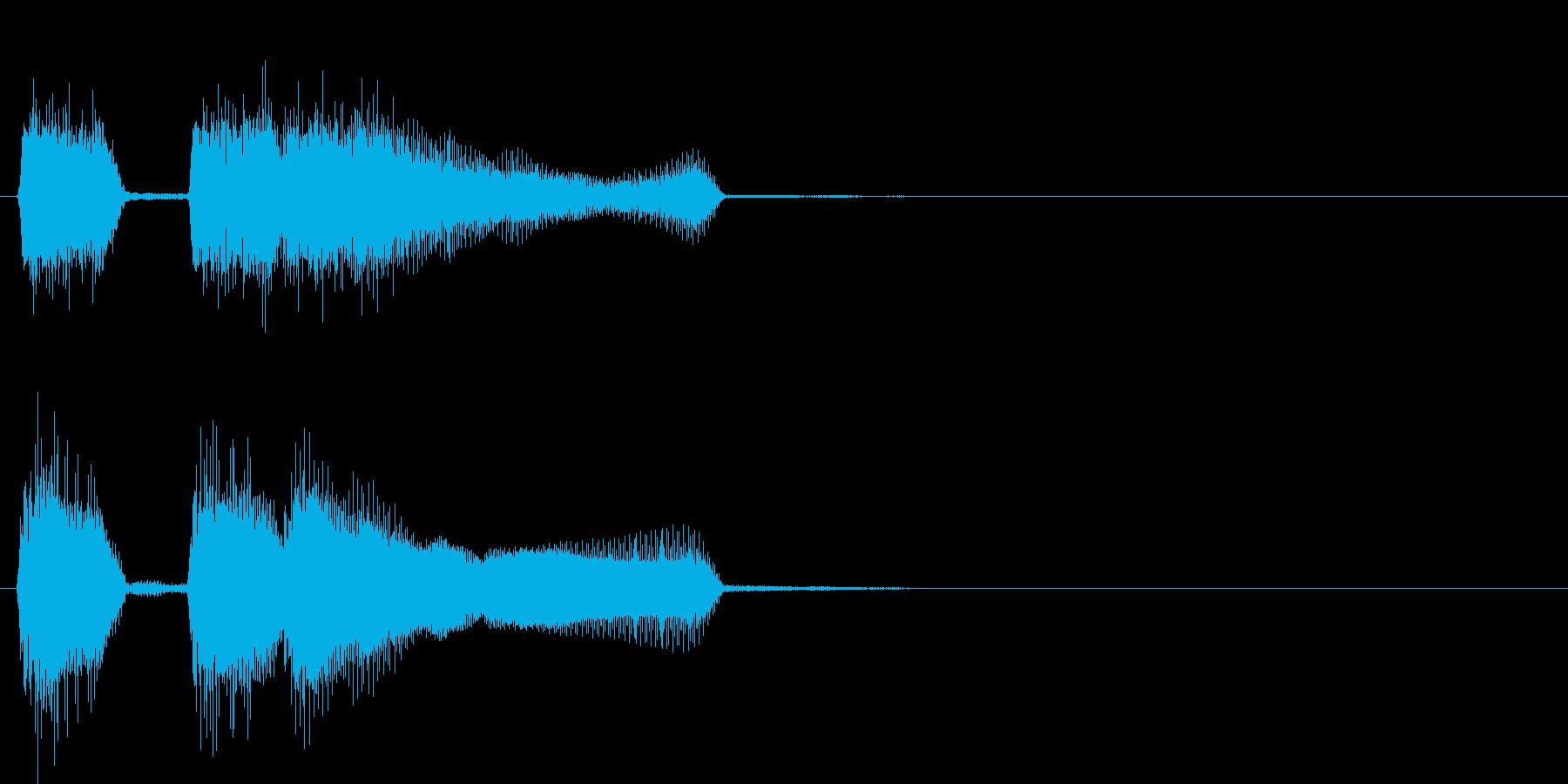 テッテレー(成功時のファンファーレ)の再生済みの波形