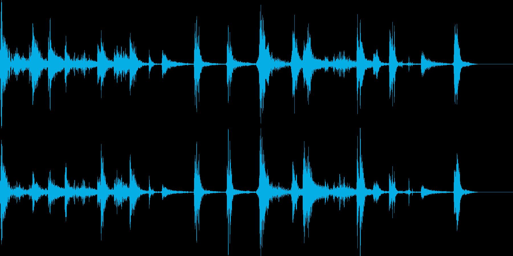 スピード感と緊張感のあるジングルの再生済みの波形