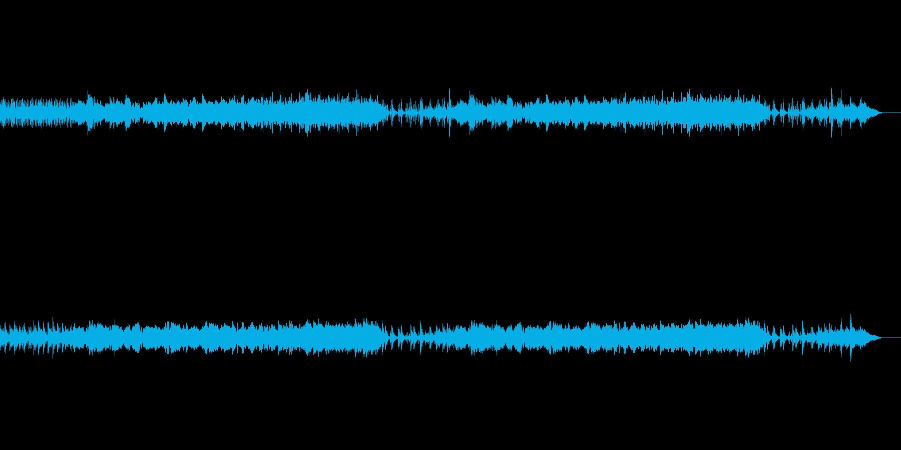 ピアノと二胡の切ないサウンドの再生済みの波形