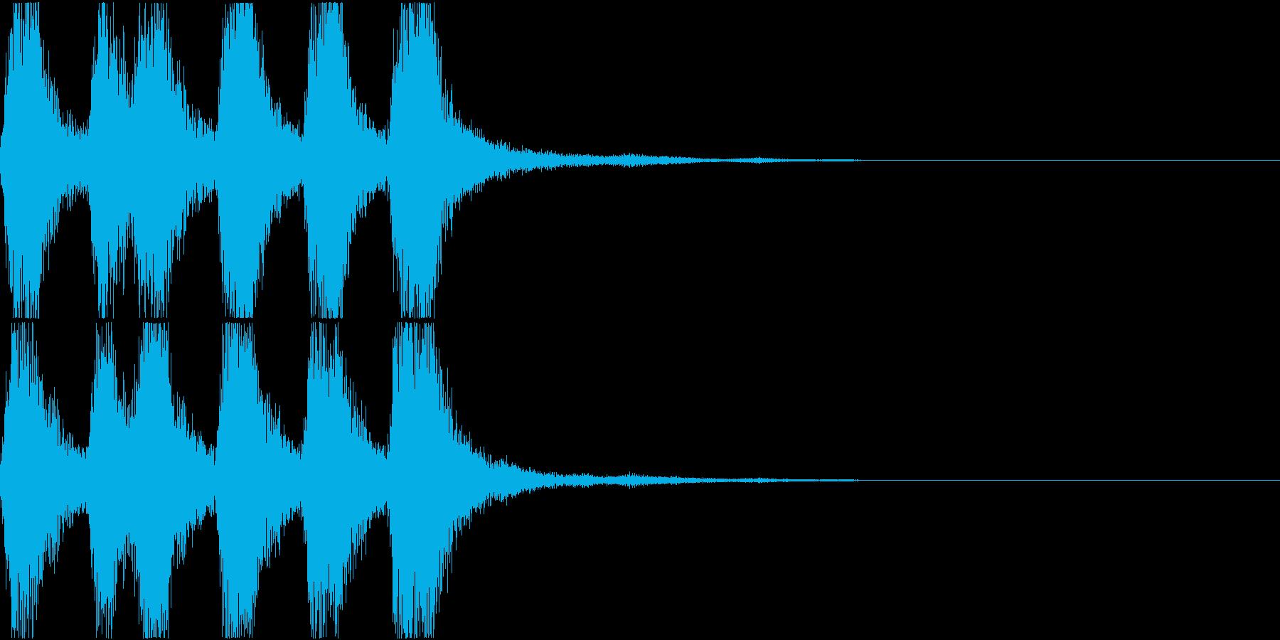 ラッパ ファンファーレ 定番 14の再生済みの波形