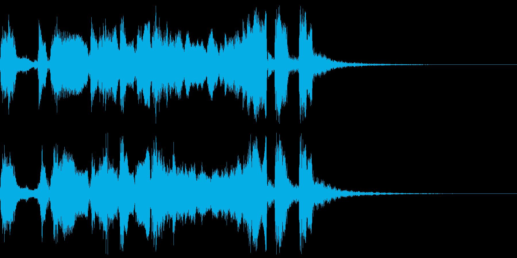 シンプルなファンファーレ3+ハモ+Drの再生済みの波形