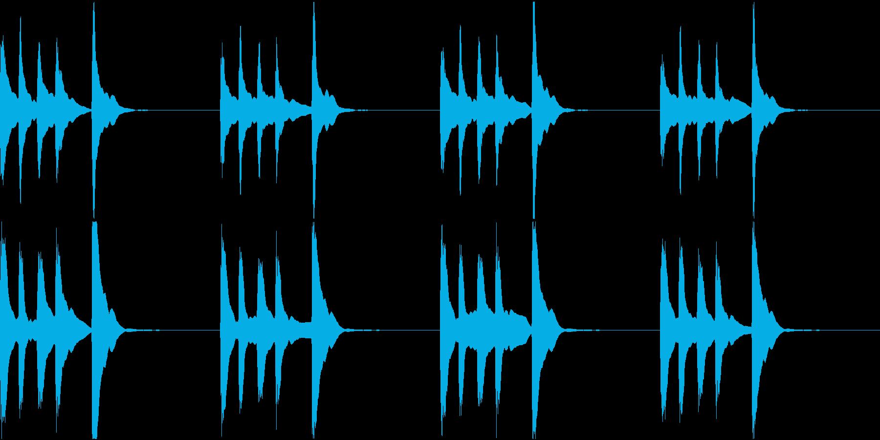 シンプル ベル 着信音 チャイム C-6の再生済みの波形