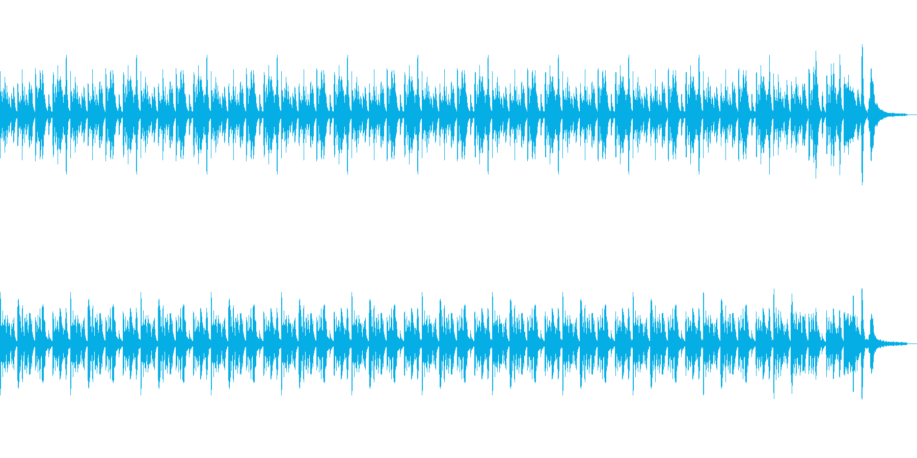 軽快なピアノのシンプルなポップスの再生済みの波形