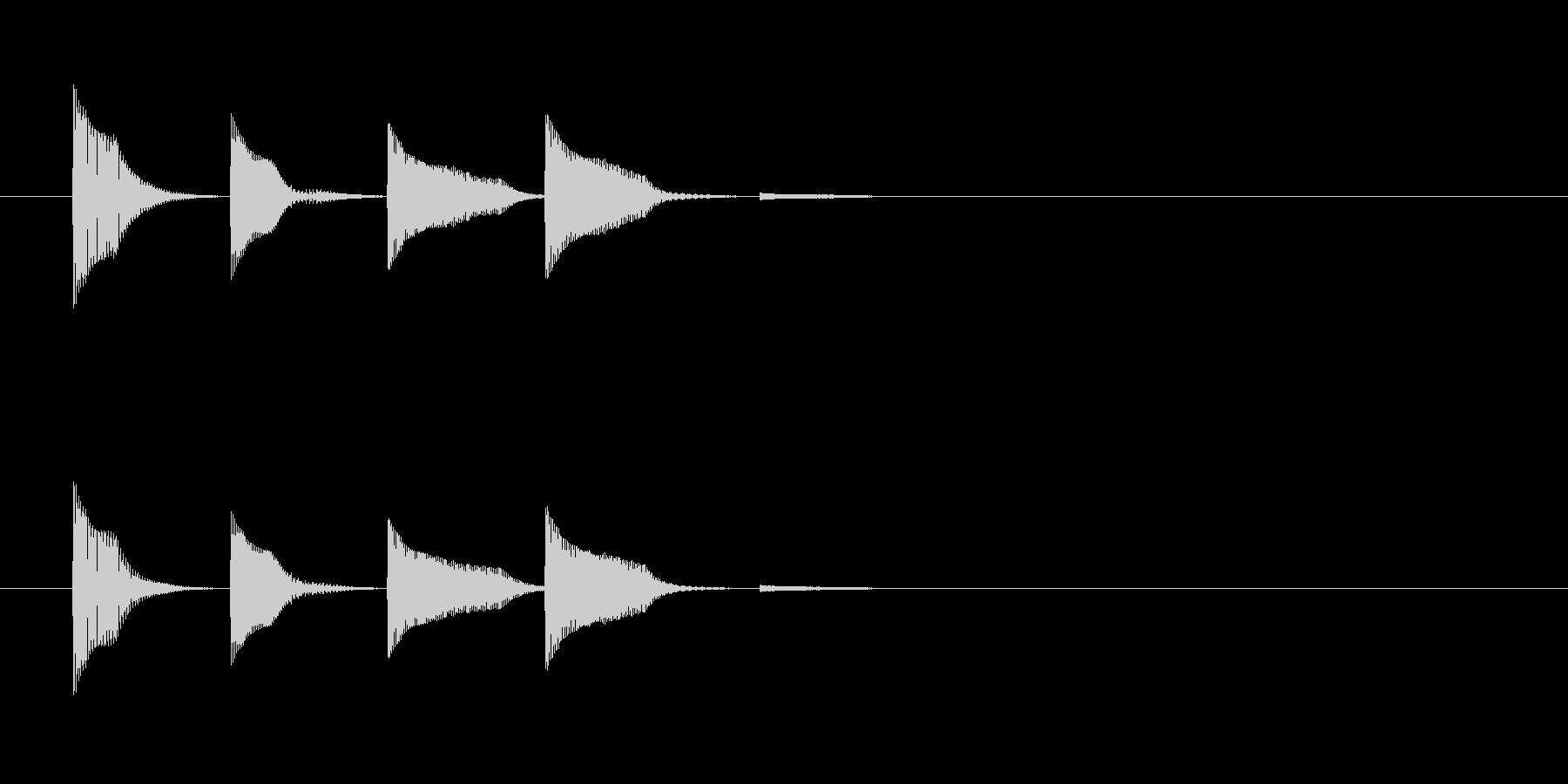 システム・ボタン音1の未再生の波形