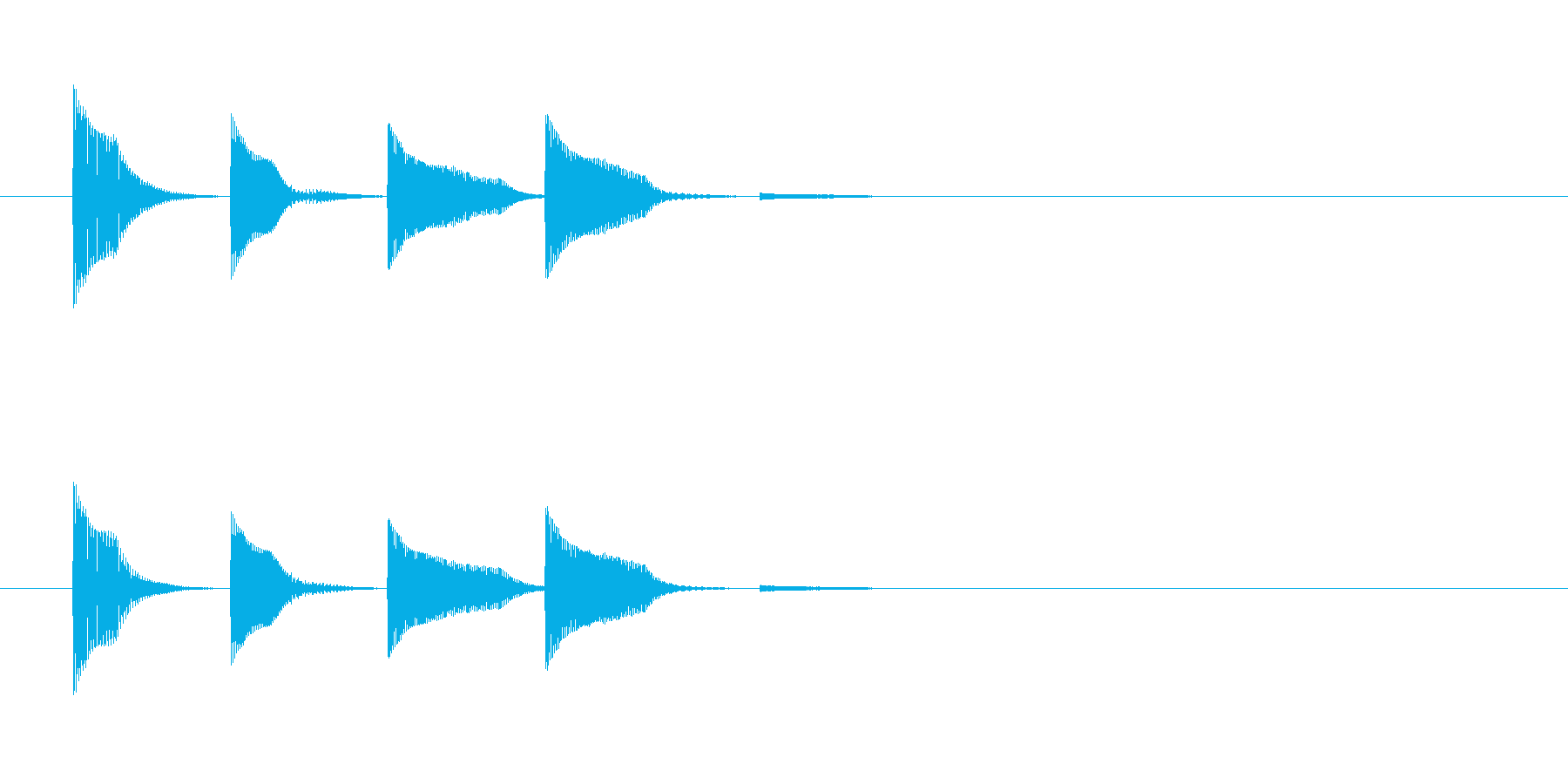 システム・ボタン音1の再生済みの波形