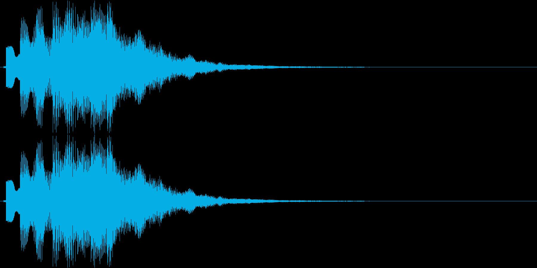 チャラララララン(場面転換、可愛い音)の再生済みの波形