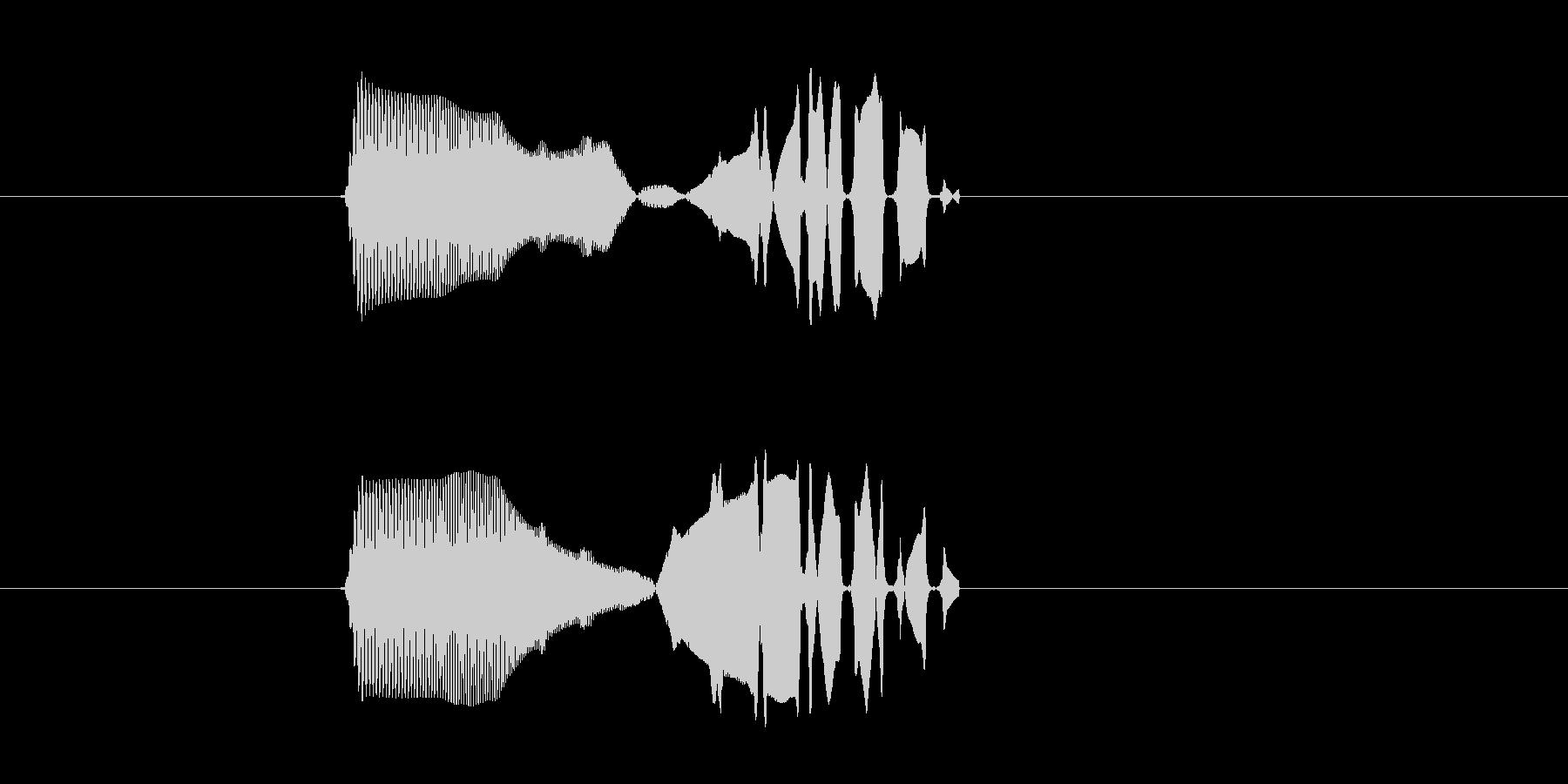 ミュルルルルル!電子音の未再生の波形