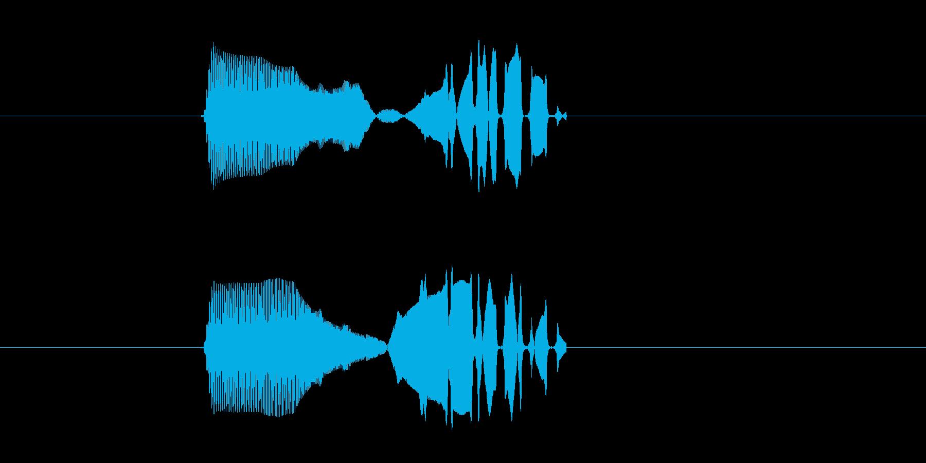 ミュルルルルル!電子音の再生済みの波形