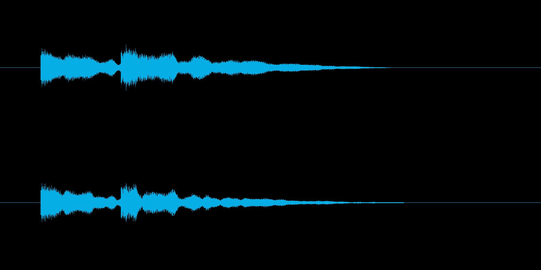 チャイム音の再生済みの波形