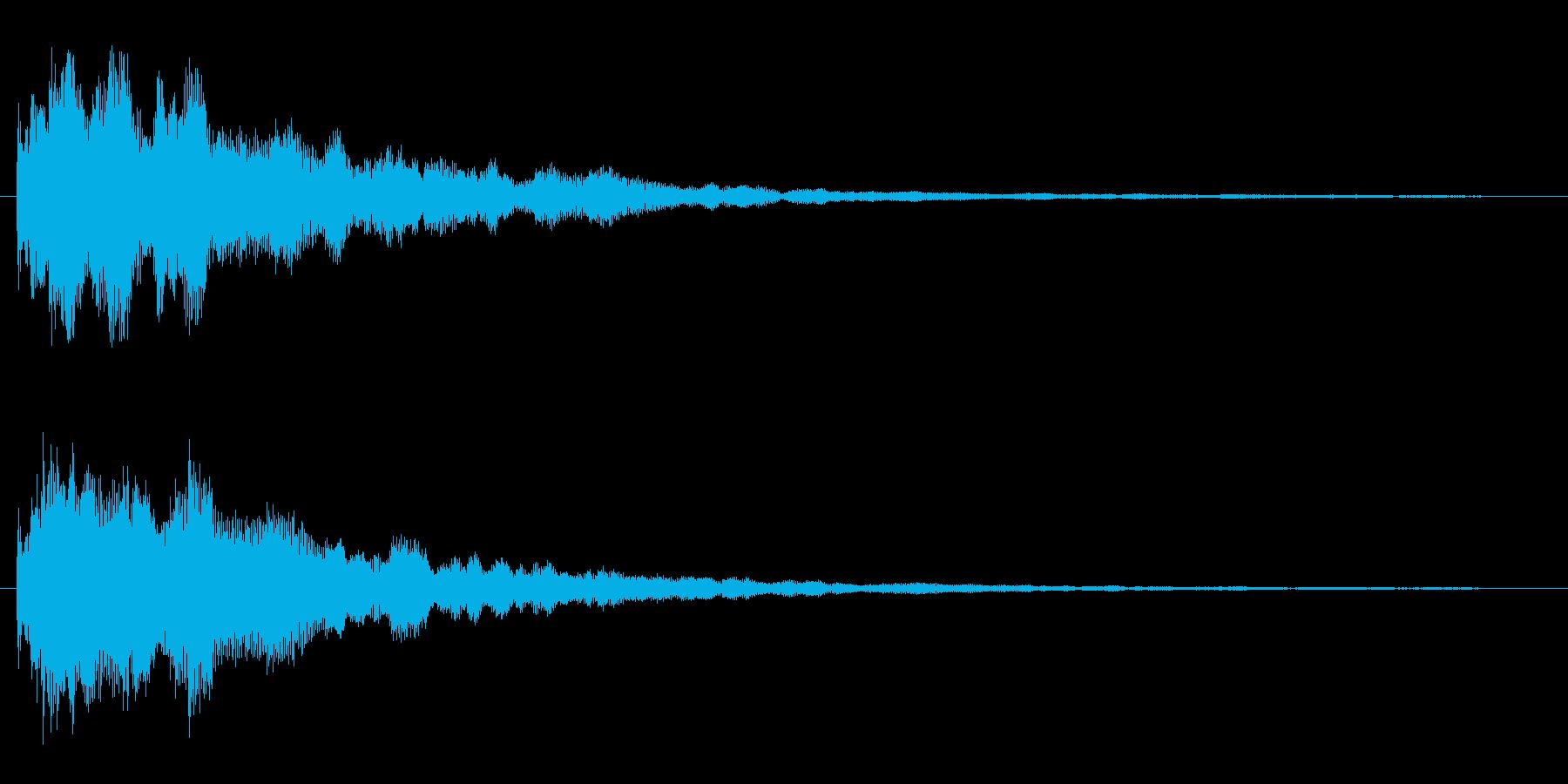 カーンというきれいな金属音の再生済みの波形