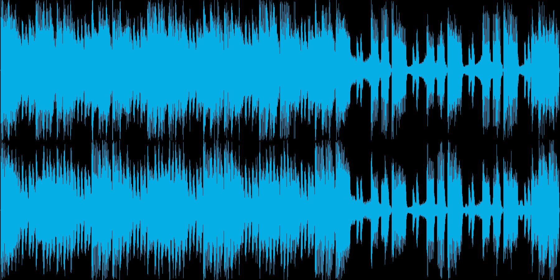 ベースリフが強烈なループ素材の再生済みの波形