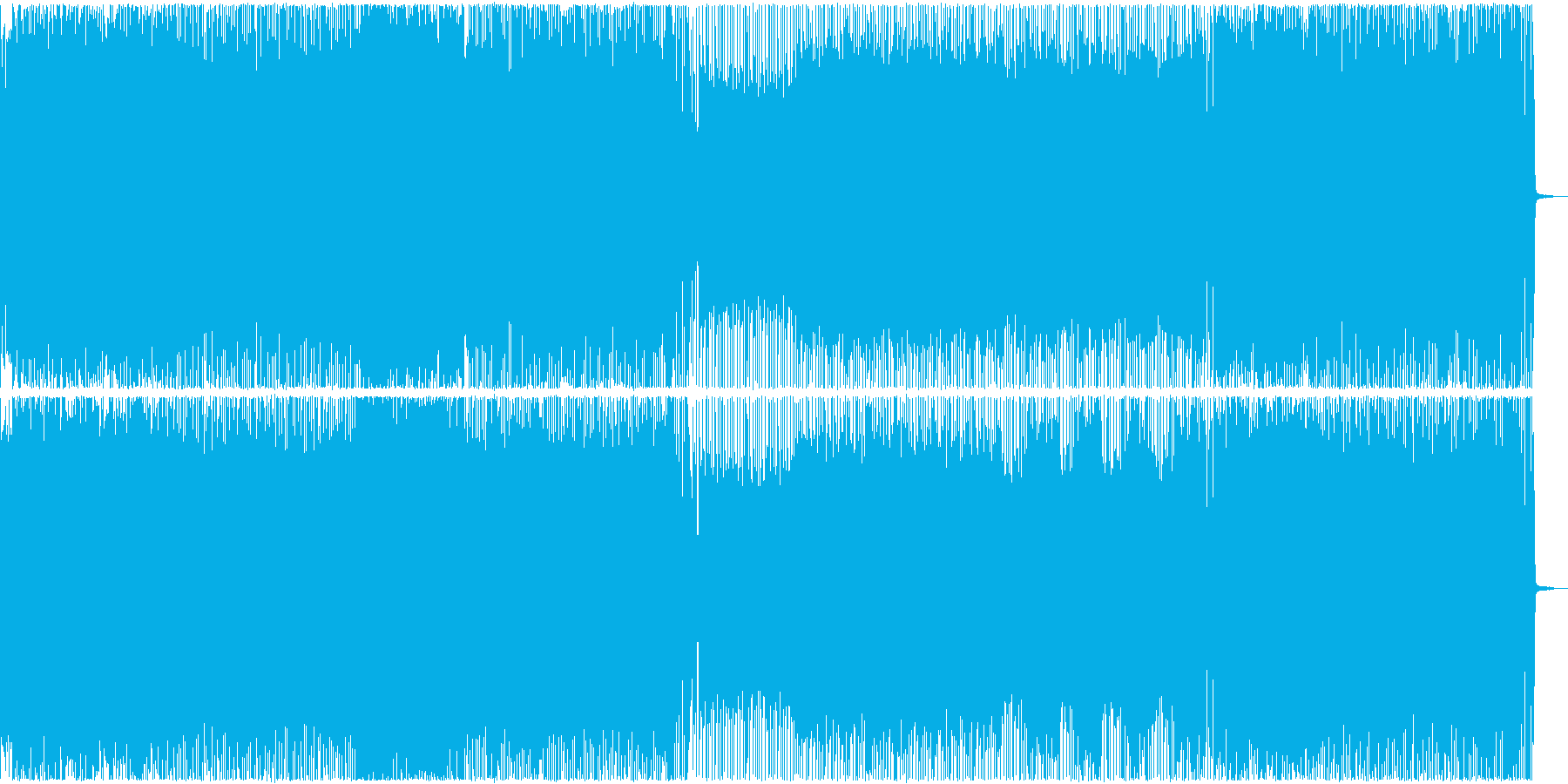 激しさとノリのスラッシュメタルの再生済みの波形