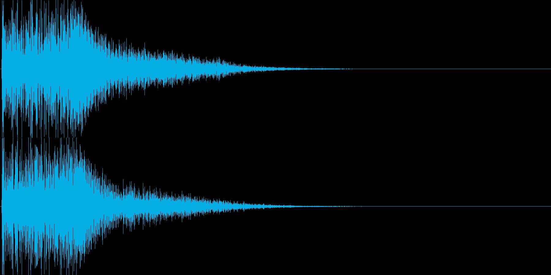 ジャラン(決定音、起動音、ゲームアプリ)の再生済みの波形