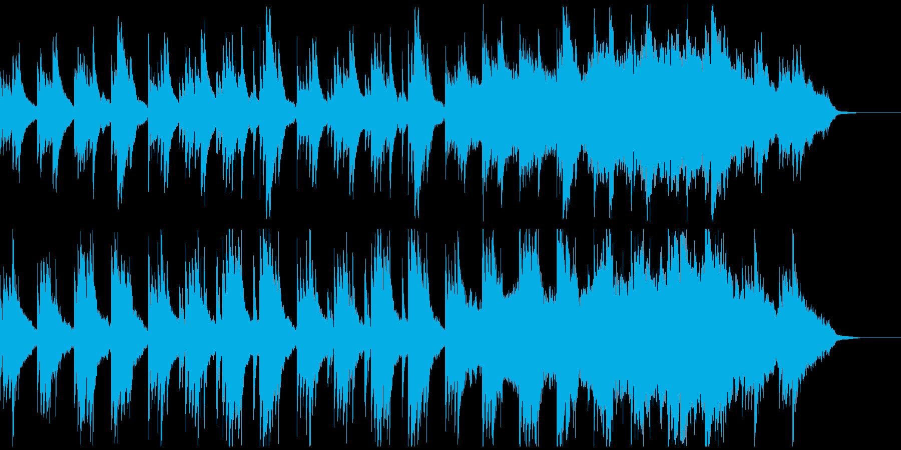 ピアノと弦による悲しげで深みのある曲の再生済みの波形