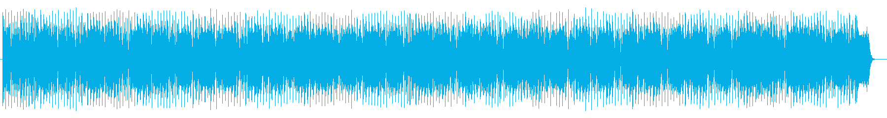 和風でアップテンポな三味線テクノの再生済みの波形