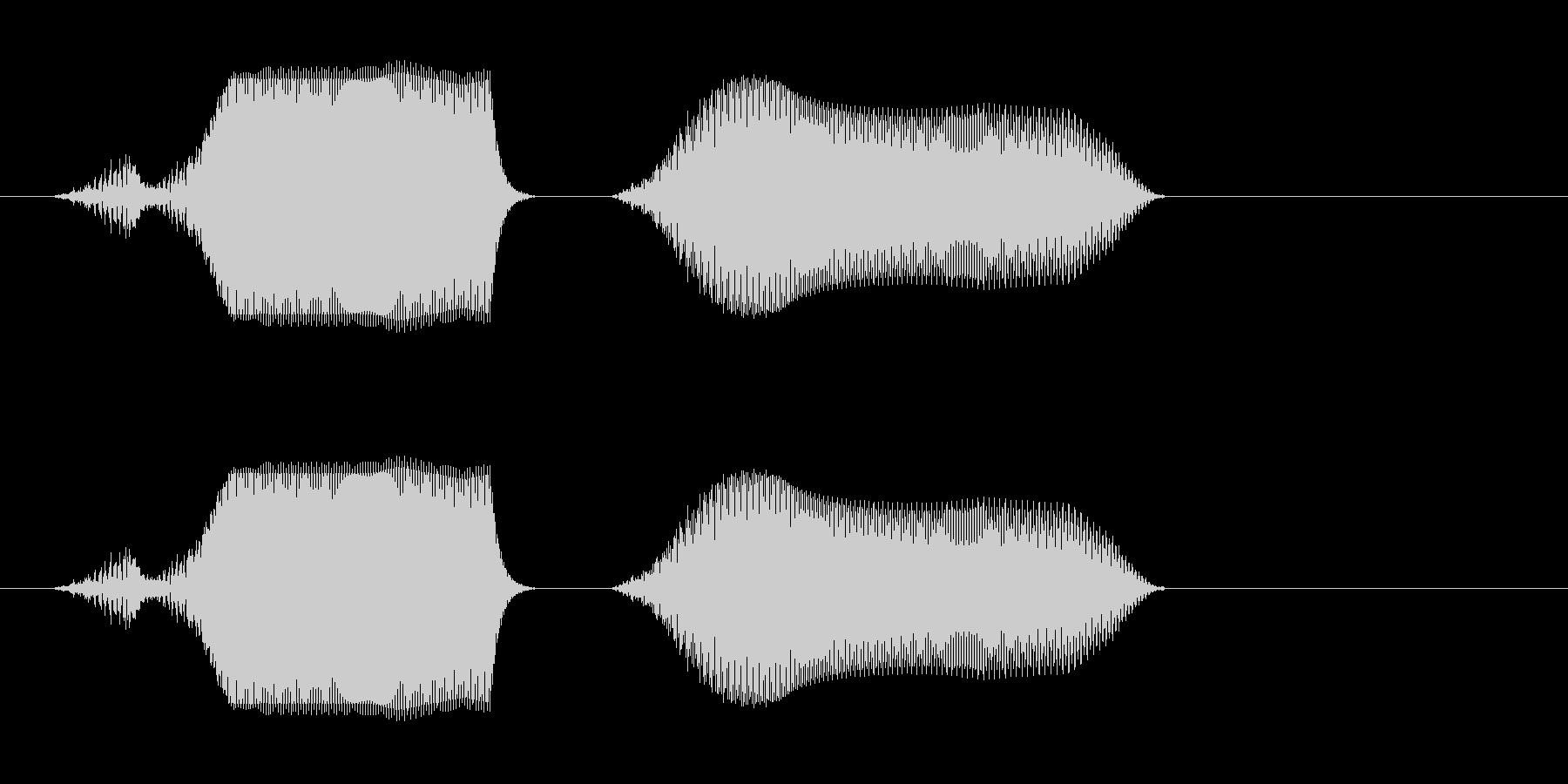 ピュンッ(穴に落ちたような音)の未再生の波形