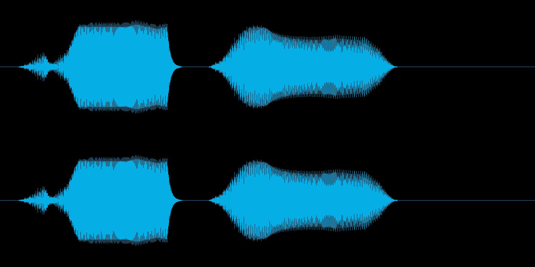 ピュンッ(穴に落ちたような音)の再生済みの波形