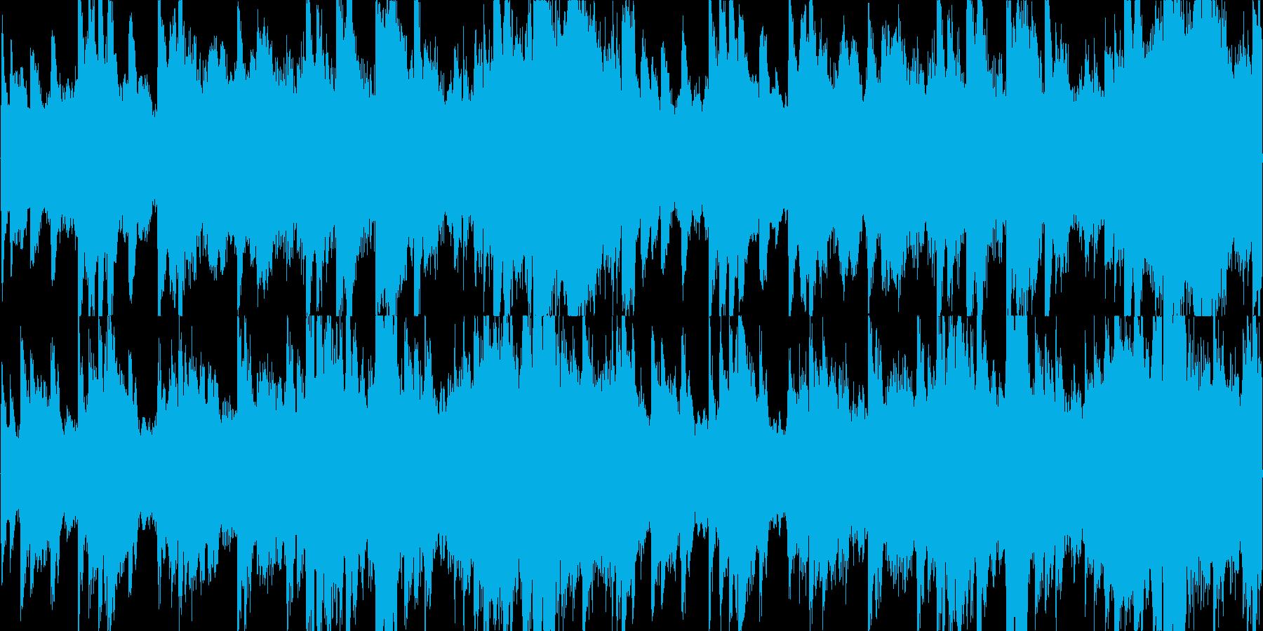 ゆったりとしたヒーリング系ピアノBGMの再生済みの波形