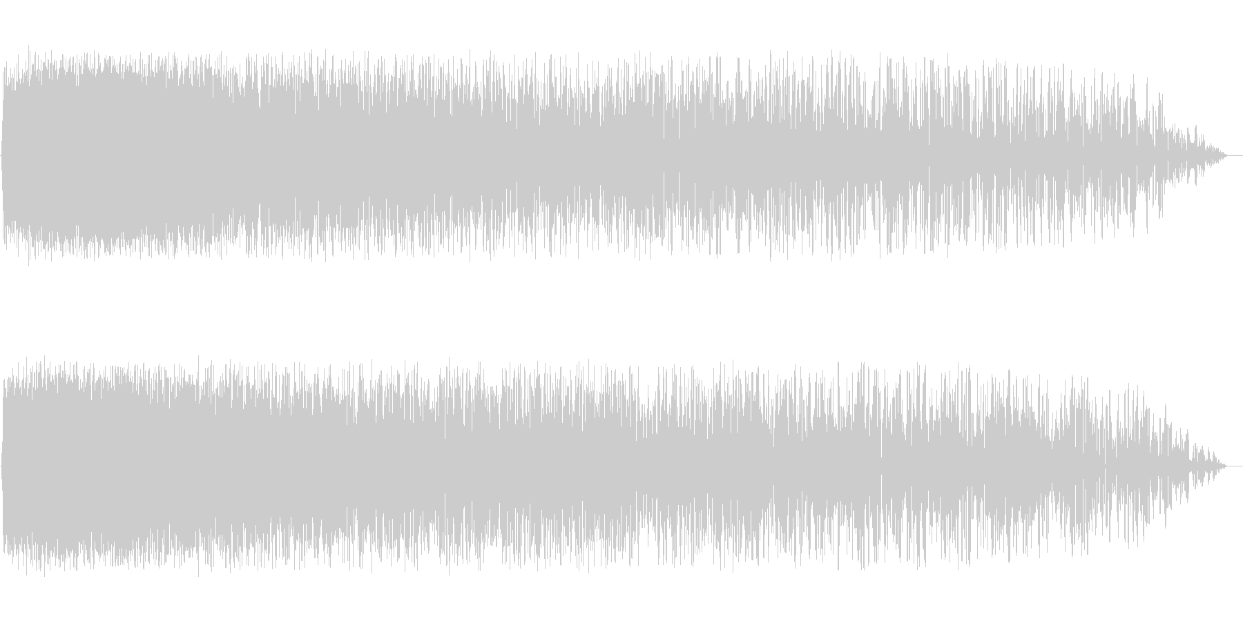 ピシャァーン(雷のような音)の未再生の波形