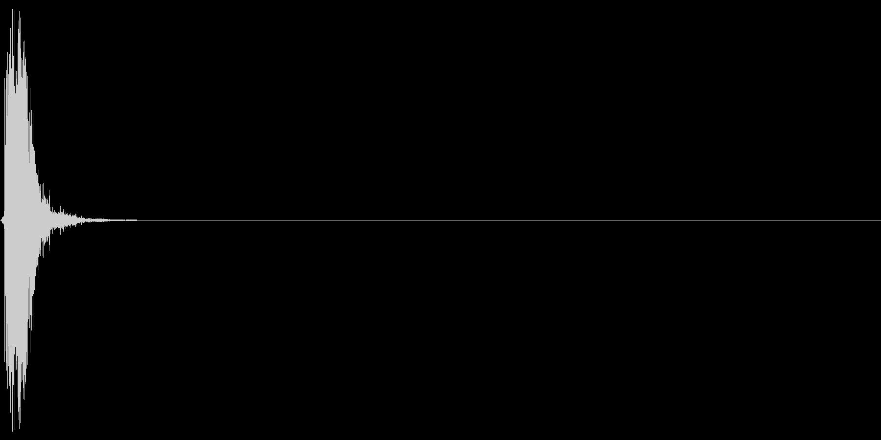 ピシュン(ショット音、シューティング)の未再生の波形