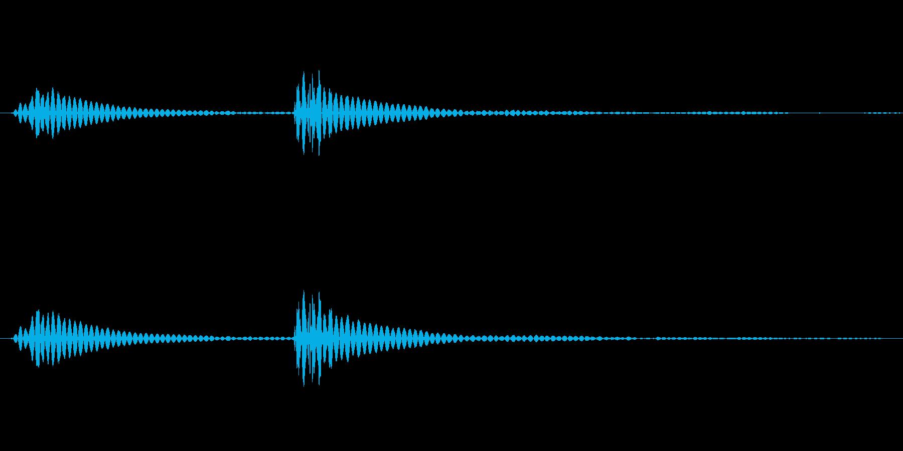 カリッ(錠剤などの硬い物を噛む音)の再生済みの波形
