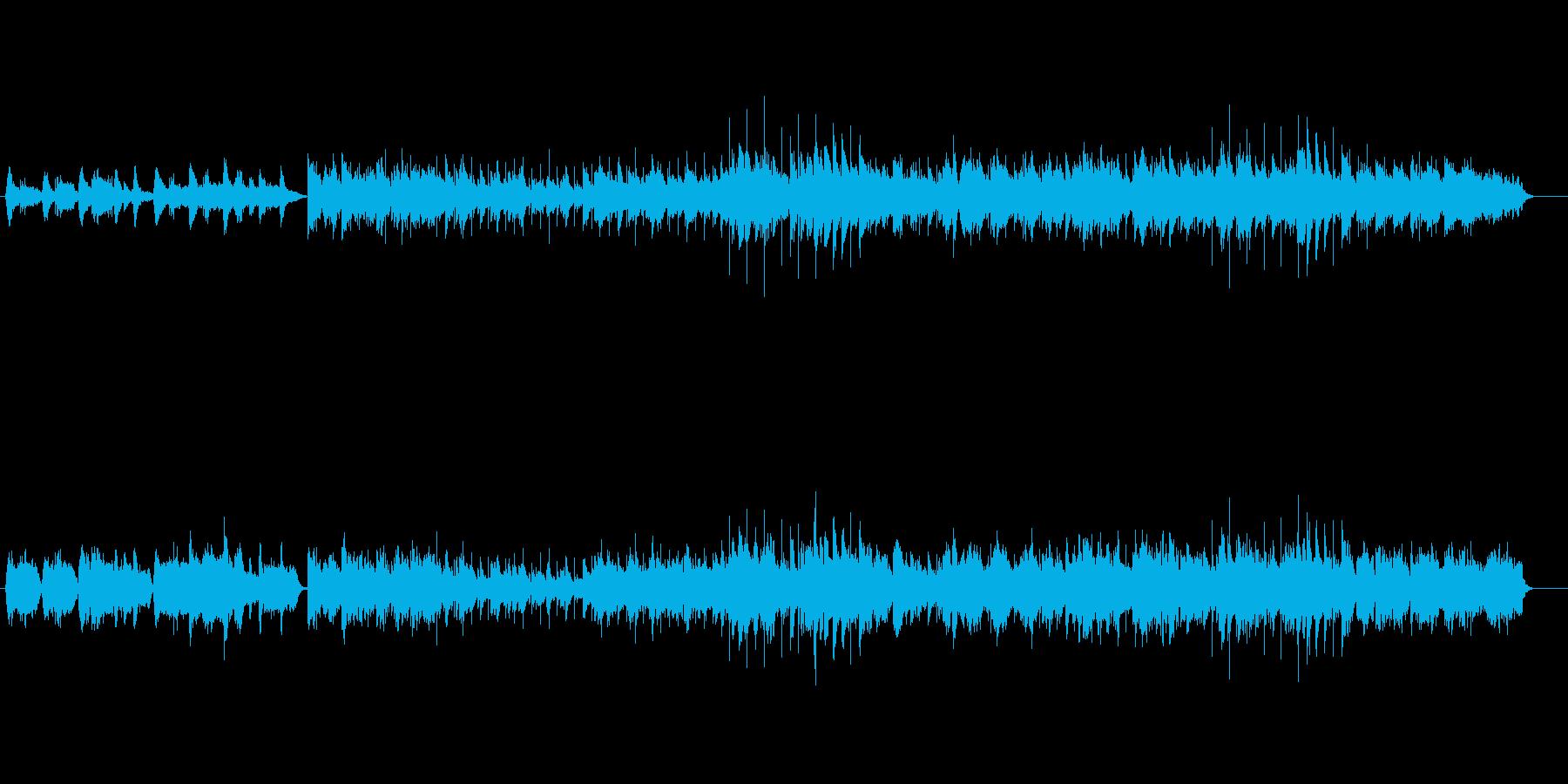 しっとり落ち着いたピアノ・バラードの再生済みの波形