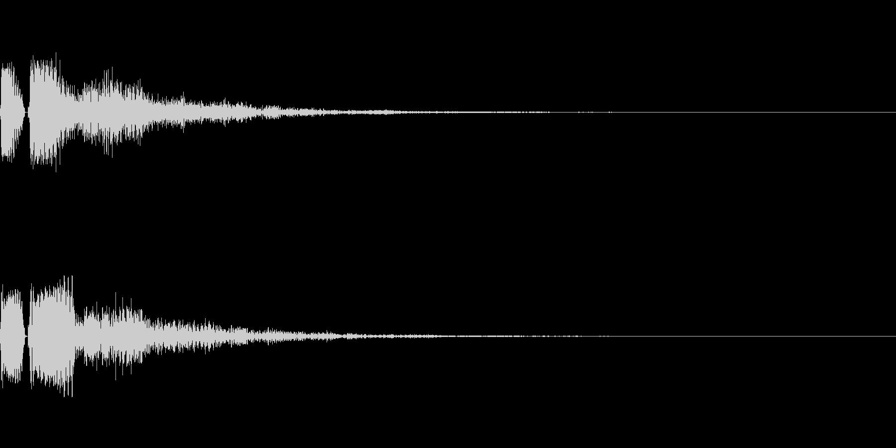 セレクト、決定音の未再生の波形