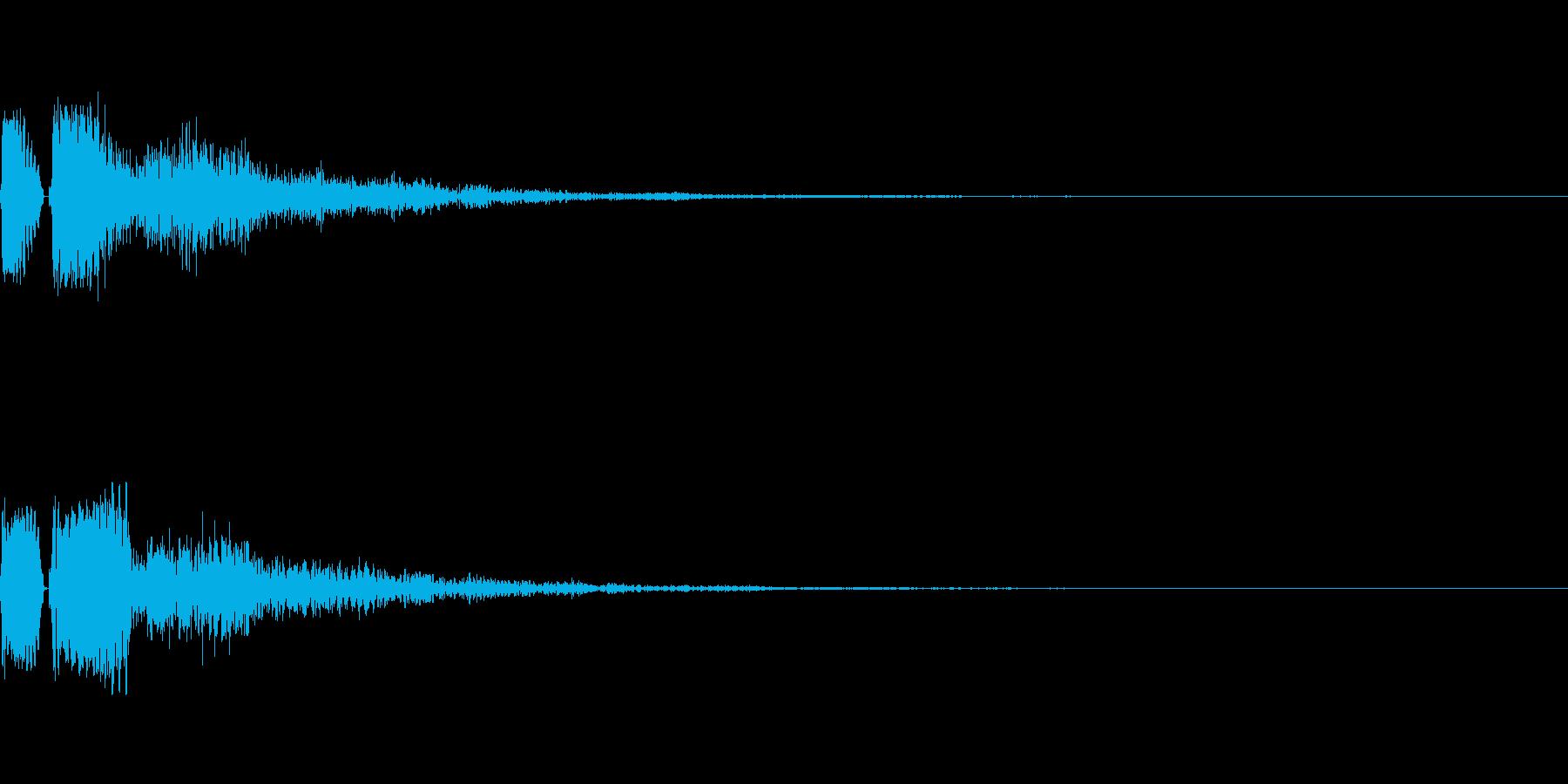 セレクト、決定音の再生済みの波形