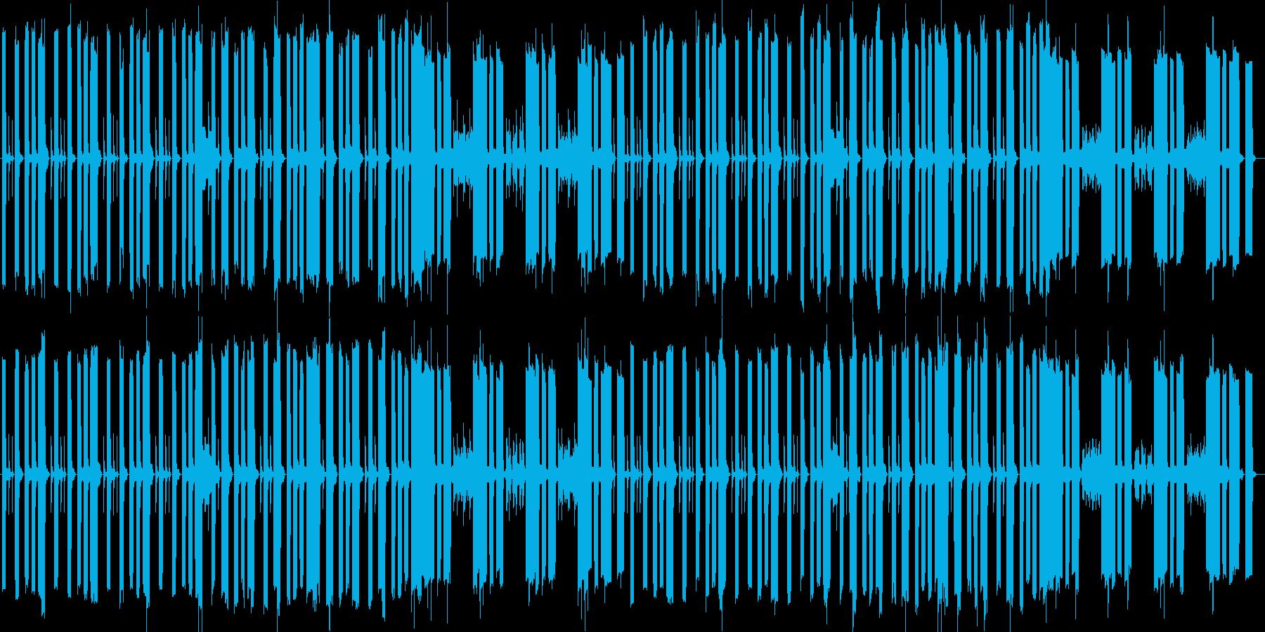 だるい感じを出した楽曲の再生済みの波形