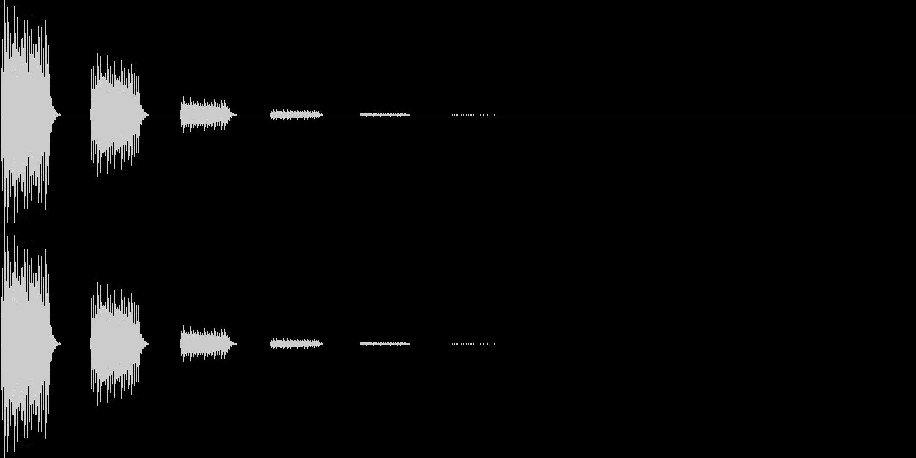 テテン(決定、移動、モニターオン)の未再生の波形
