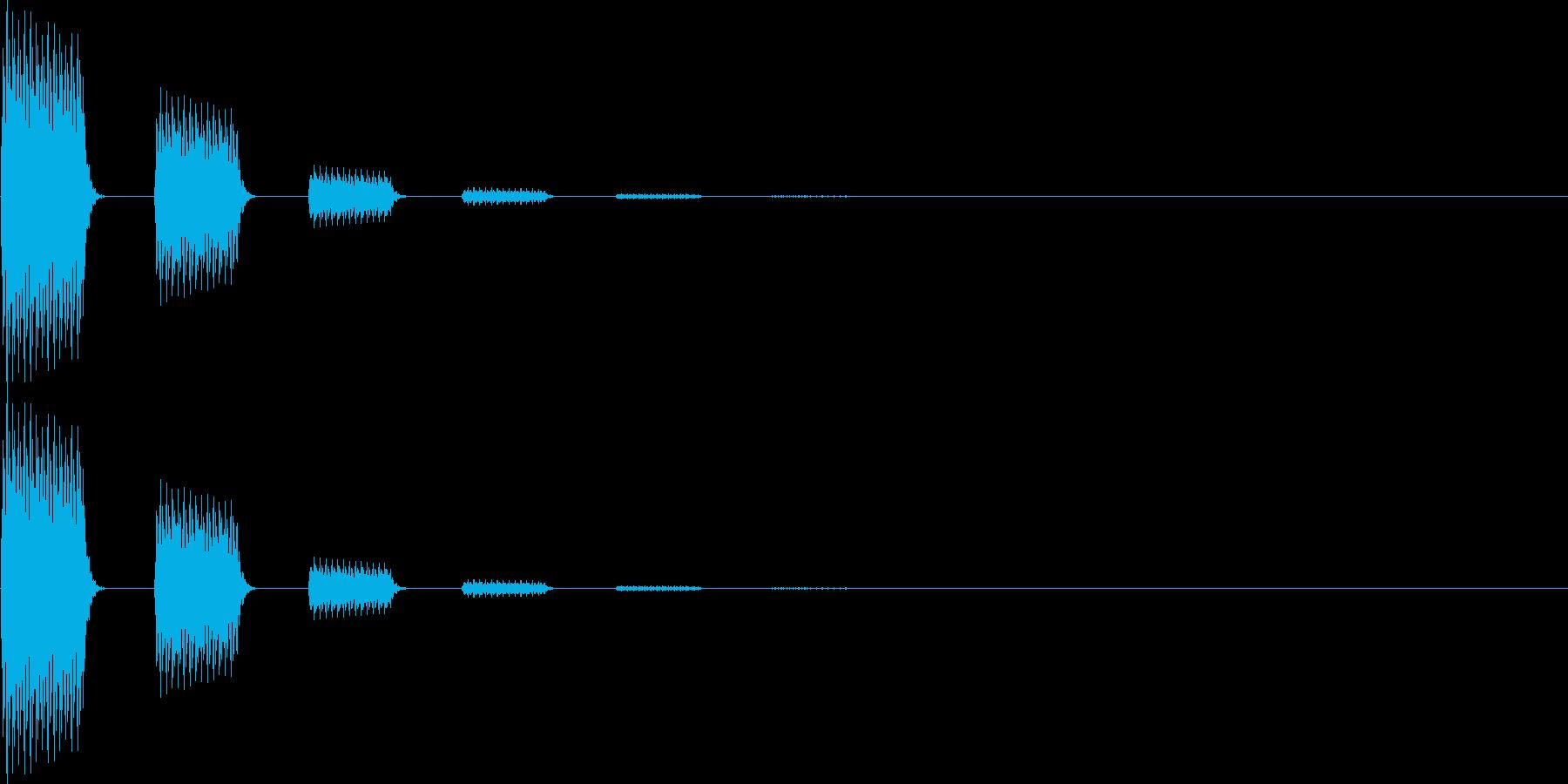 テテン(決定、移動、モニターオン)の再生済みの波形