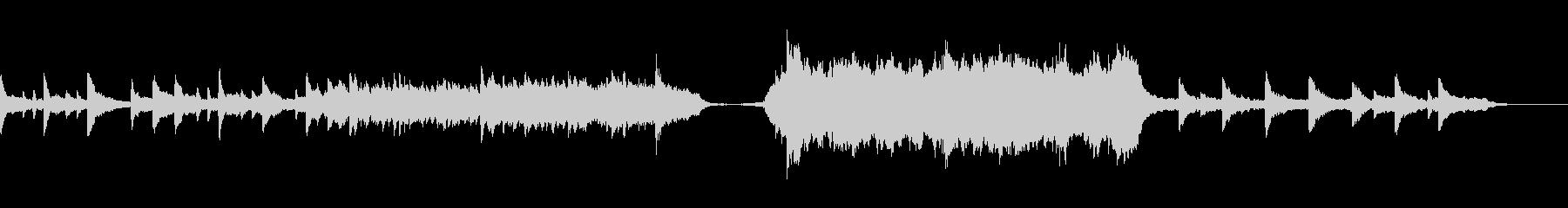 感動するシーンで使えるピアノとオーケストの未再生の波形