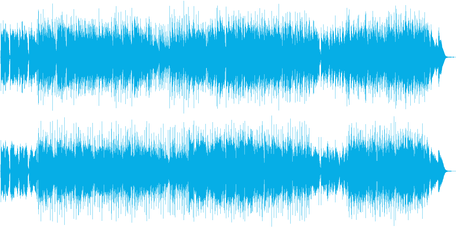 尺八とピアノによるはかない曲の再生済みの波形