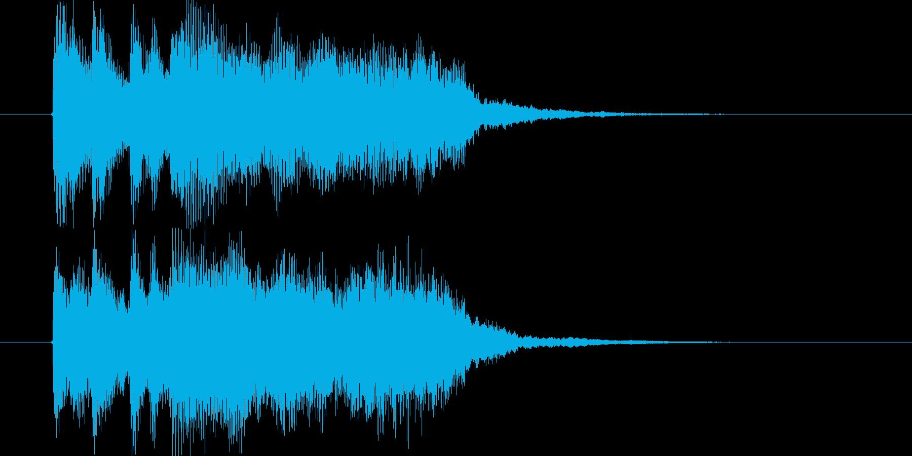 ストリングスとホルンのポップスの再生済みの波形