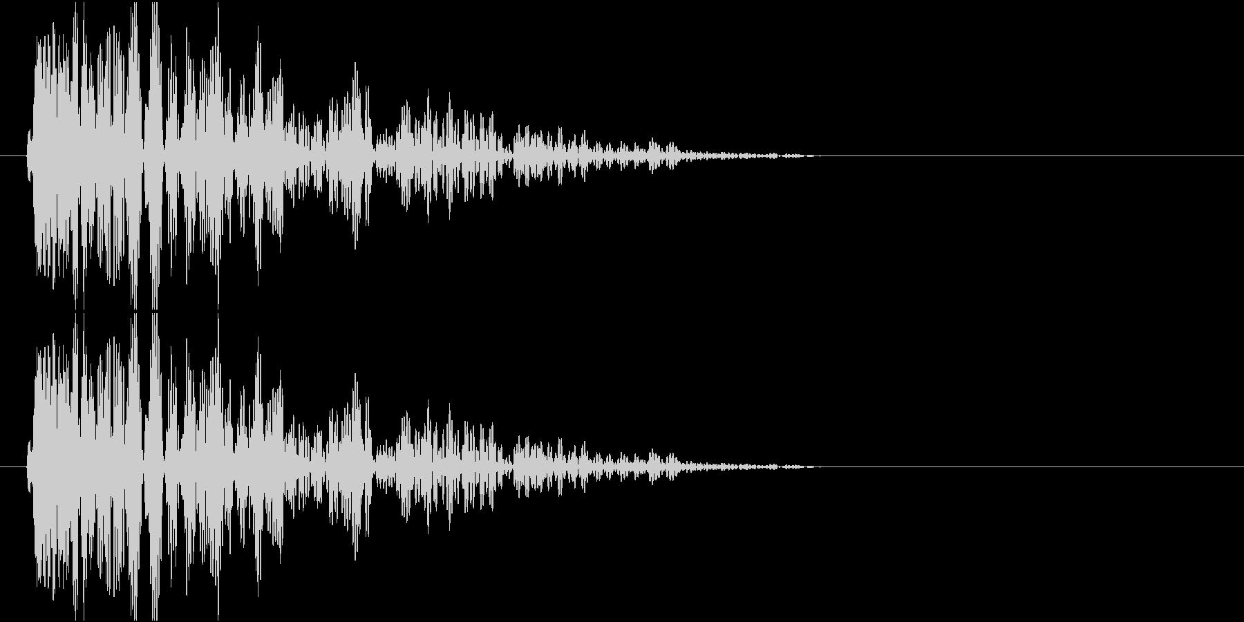 爆発、地響き、衝撃音 低音系の未再生の波形
