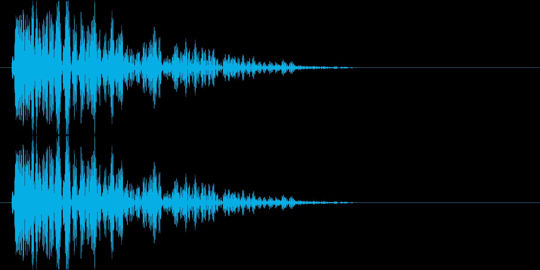 爆発、地響き、衝撃音 低音系の再生済みの波形