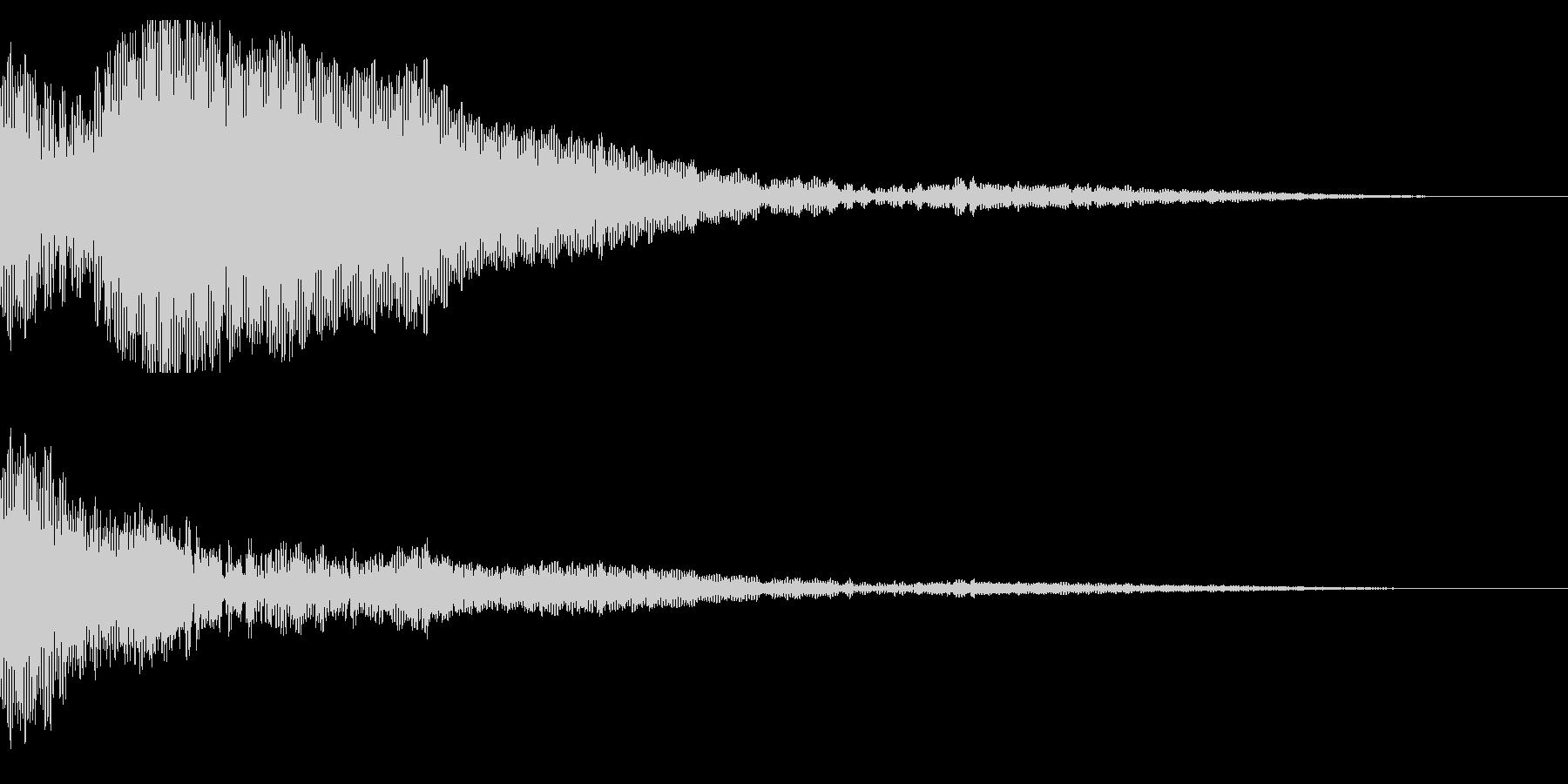 ホラー系アタック音26の未再生の波形