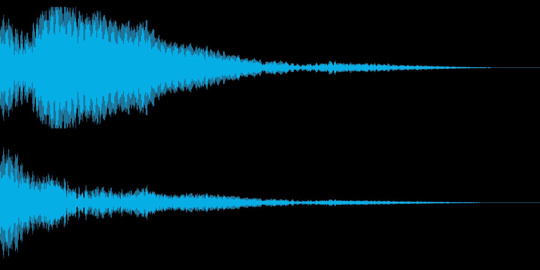 ホラー系アタック音26の再生済みの波形
