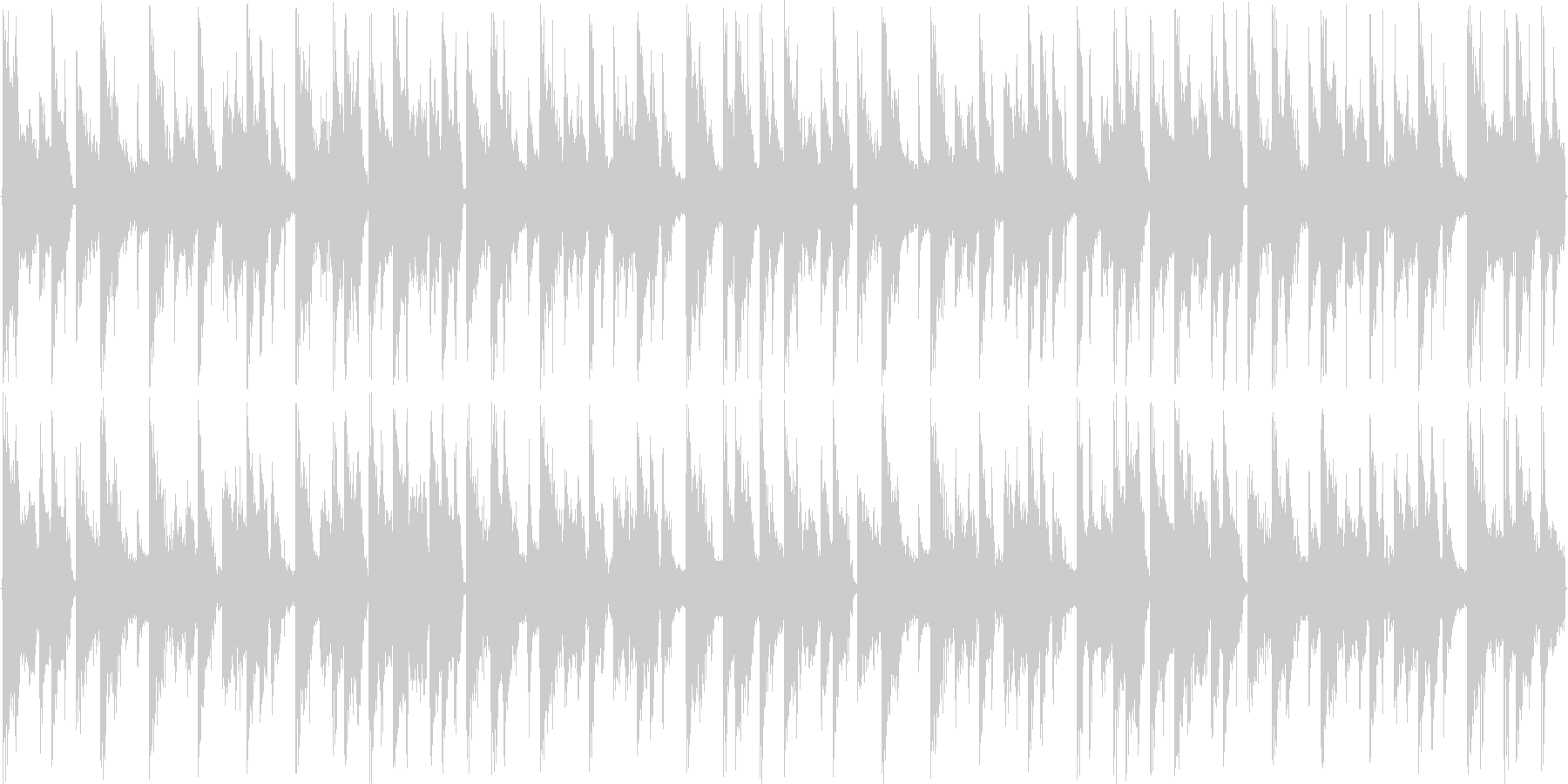 リズムを強調した楽曲です。の未再生の波形