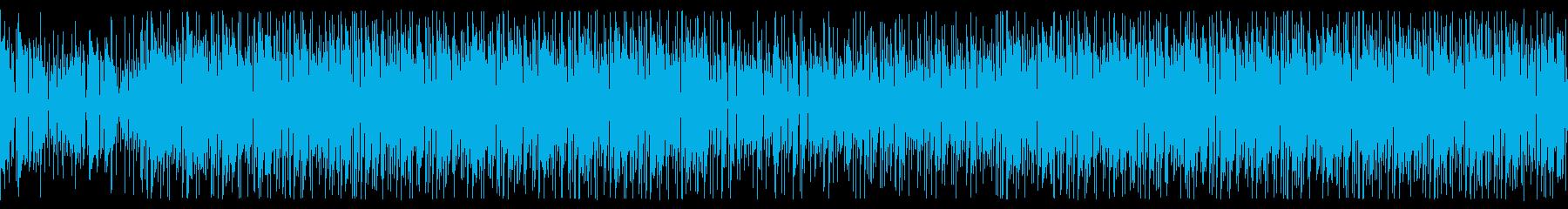 ギターカッティングとファンクなサックスの再生済みの波形