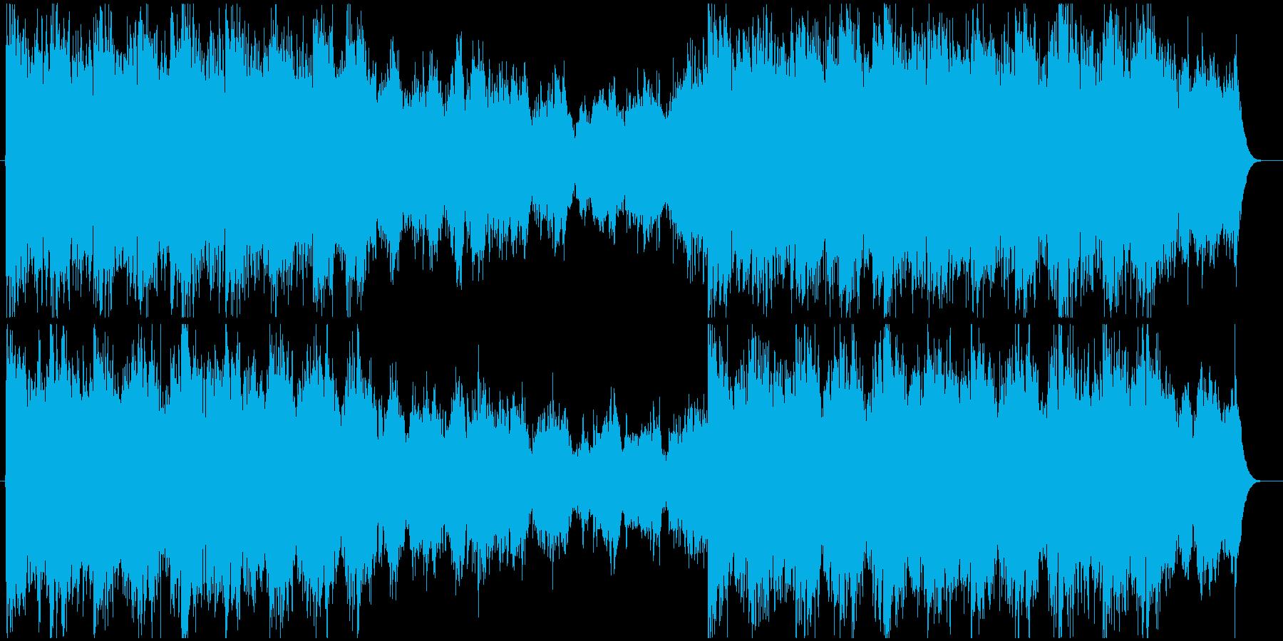 勇ましいオーケストラ曲の再生済みの波形