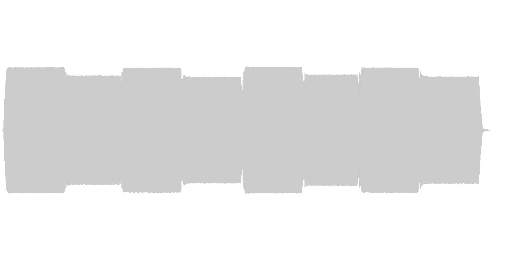 ピーポー(救急車、ハーモニックサイレン)の未再生の波形