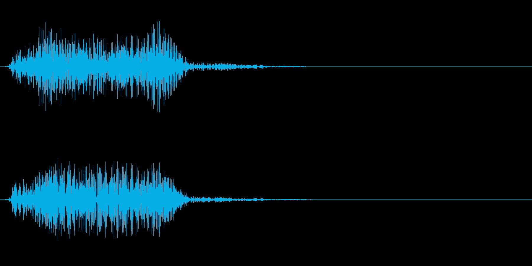 SFでの移動系効果音(ワープなどに)の再生済みの波形