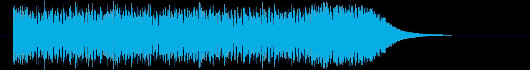 シンセイサイザーと笛の和風テクノの再生済みの波形