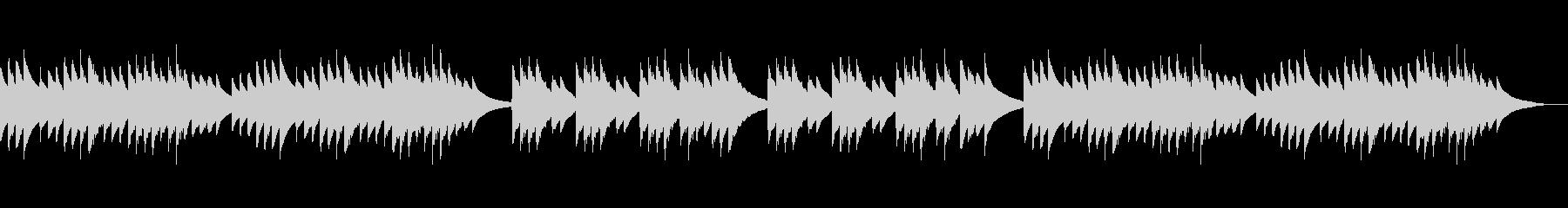 さわやかなオルゴール風の曲の未再生の波形