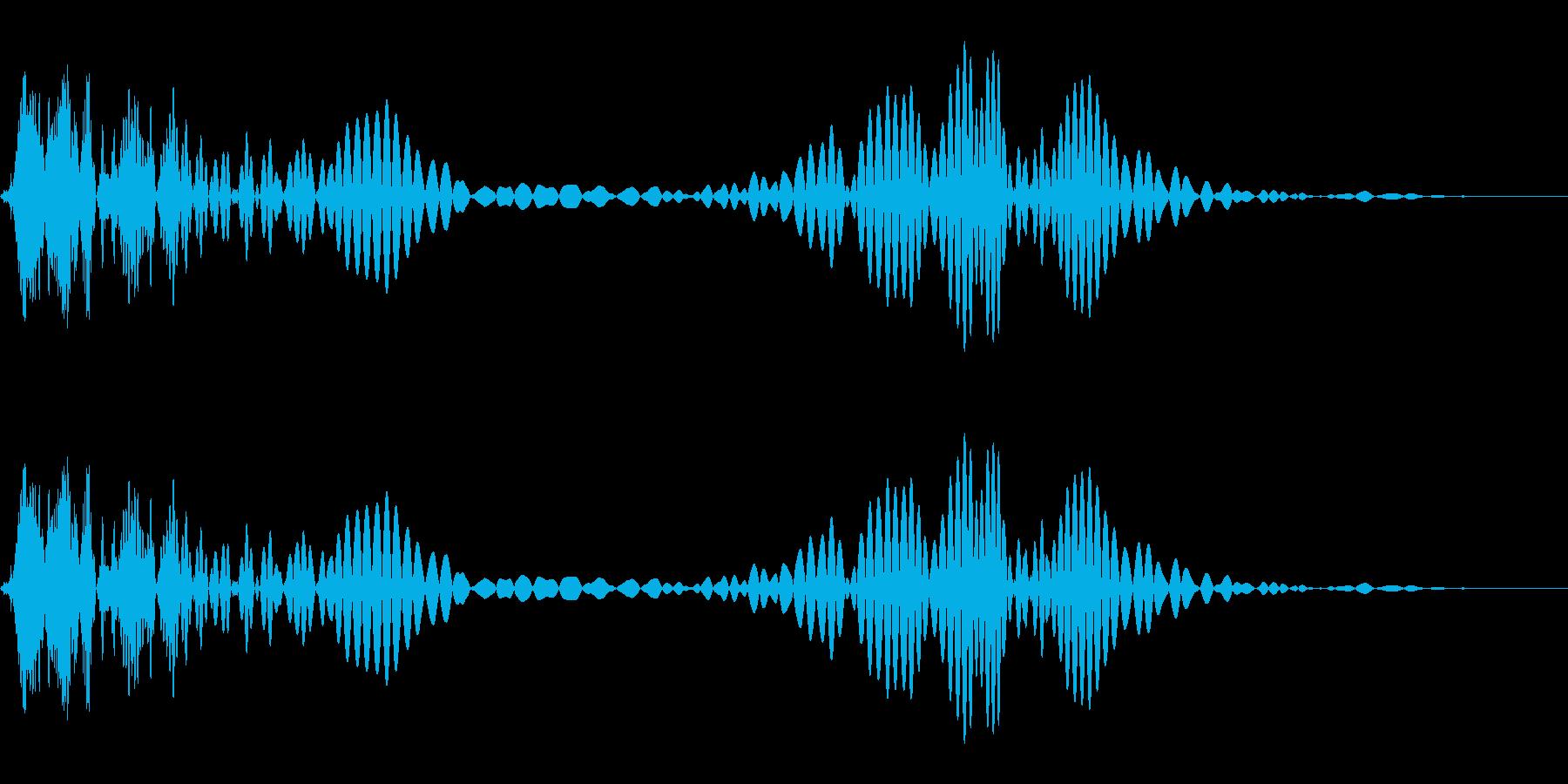 マスコットやロゴが「ひょこっ」と動く音の再生済みの波形