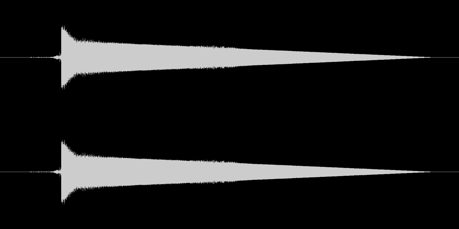 8bitゲーム スイッチ 決定音の未再生の波形